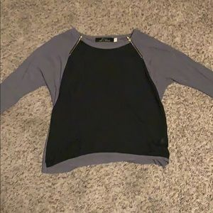 Tops - Black and gray top